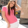 TS sweetie Ashley George posing in public